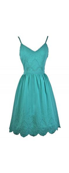 5226d7276054 Blink Of An Eyelet A-Line Midi Dress in Jade