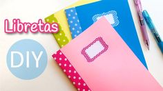 Manualidades: LIBRETAS (Cuadernillos de notas) muy fácil - Innova Manual...