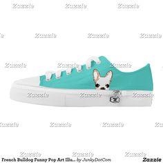 French Bulldog Funny Pop Art Illustration Printed Shoes