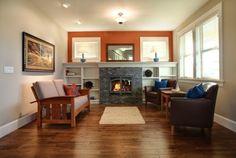 windows above builtins... fireplace