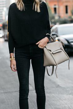 Club Monaco Black Cashmere Sweater Black Jeans Celine Mini Belt Bag Fashion  Jackson Dallas Blogger Fashion Blogger Street Style a125bf78684bc