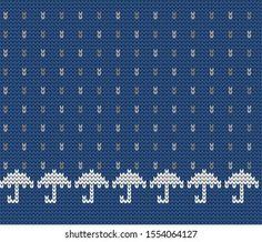 Knitted Decorative Seamless Border Arkivvektor (royaltyfri) 560845657 Knitting Charts, Knitting Patterns, Illustrations, Yarn Crafts, Crochet Yarn, Image Collection, Vector Free, Create Yourself, Cross Stitch