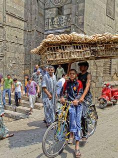 selling bread in Islamic Cairo