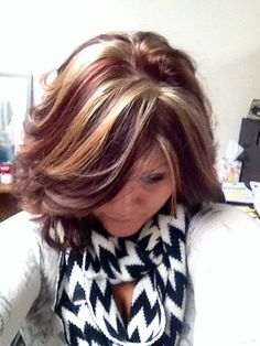 The new web for people who love hair! - New Hair Design Blonde With Red Highlights, Red To Blonde, Hair Highlights, Chunky Highlights, Love Hair, Great Hair, Look 2015, Hair Color And Cut, Funky Hair Colors