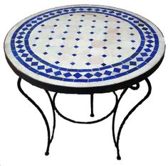 Round Mosaic Table Blue Classic. Change the blue to green, and it's just about perfect.
