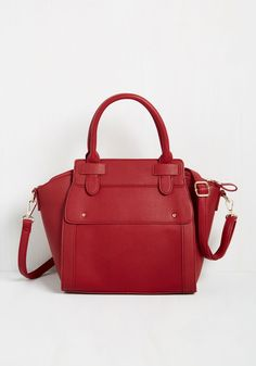 Urban Apartment Shopping Bag. A move to the metropolis means a daily display of your style, which you showcase through this deep red purse while picking your new pad! #red #modcloth
