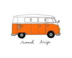Volkswagen Bus Choose Your Color 5x7 Illustration by CocoDraws, $11.00