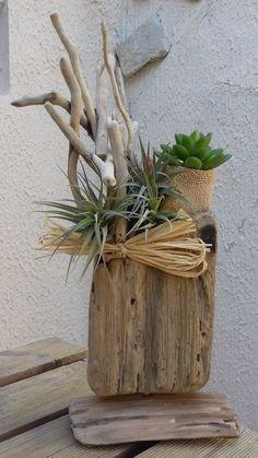 Objet décoratif en bois flotté, fait main. de la boutique infinimentbois sur Etsy
