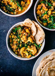 Cauliflower, Sweet Potato, Chickpea Curry| Occasionally Eggs
