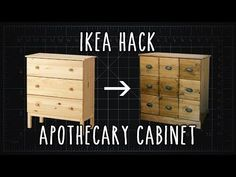 This Is So Cool The Way He Repurposes This Dresser Into This Striking Cabinet! - DIY Joy
