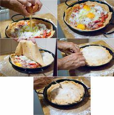Empanada de Huevos al Plato - Cocina para uno en dos metros cuadrados