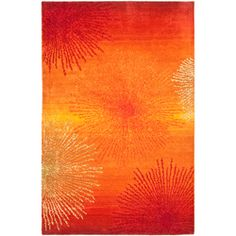 Handmade Soho Burst Rust New Zealand Wool Rug (8'3 x 11')