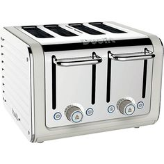 DUALIT Architect four-slice toaster ($150) ❤ liked on Polyvore featuring home, kitchen & dining, small appliances, four slice toaster, colored toasters, dualit, 4 slot toaster and dualit toaster