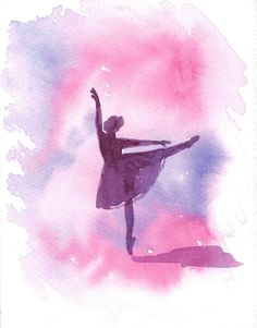 Ballet - Ballerina Watercolor - Dancer- Original Watercolour Painting 5x7