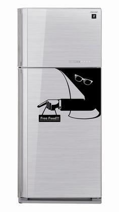 Fridge Sticker Invisible Man Ray Ban Glasses by VinyleeGraphix