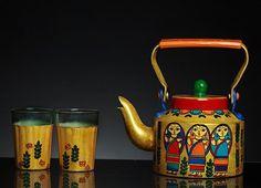 Handpainted Kettle Bengali Babushka | Online store for India's finest hand painted items  #handpainted #Kettle #BengaliBabushka #OnlineStore #Inida #handcrafted #handmade #Homedecor