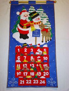 The Christmas Window - Happy Holidays Felt Advent Calendar available from www.thechristmaswindow.com