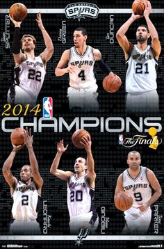 c5cbeb21666 San Antonio Spurs NBA CHAMPIONS 2014 Official Commemorative Wall Poster -  Costacos Sports Champs Posters,
