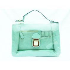 Satchel Las Malvas transparente verde agua