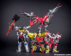 Transformers G1-color Age of Extinction Dinobots: Grimlock, Strafe (Swoop), Snarl and Slug (Slag)