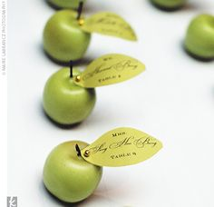 Our mini apple candles make great wedding favors or place card holders using our leaf shaped tags to personalize your favors or place cards for guest seating arrangements Decoration Communion, Wedding Table, Wedding Favors, Wedding Ideas, Party Favors, Wedding Photos, Wedding Decorations, Apple Centerpieces, Apple Theme