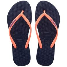 0dec508933aa5 Walk the sandy beaches in style and comfort with the Havaianas Slim Logo  Pop-Up Sandal featuring signature rice foot bed sole.