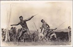 RP, Javelin Throw, Lanceurs De Javelots, Tahiti, PU-1954 Item# SCVIEW94279 (117111234)