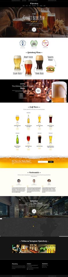 Craft Beer Pub Wordpress