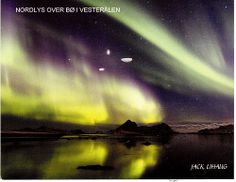 Northern Lights in Norway - Postcard featuring the Northern Lights from a Postcrosser in Norway.  This was sent to me after I sent her a card for a mail art project.