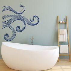 Bathroom: Kraken Octopus Tentacles Vinyl Wall Decal Octopus by HomyVinyl