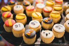 Mini cupcakes Harry Potter. Drucka Machado Bolos - www.facebook.com/druckamachadobolos