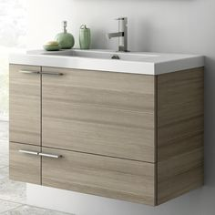 Bathroom Vanity, ACF ANS31, 31 Inch Vanity Cabinet With Fitted Sink ANS31