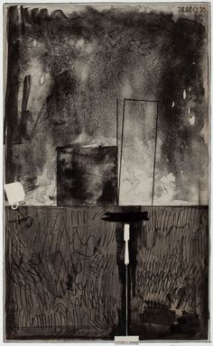 Thunderstruck (Jasper Johns (American, b. 1930), Zone Black...)