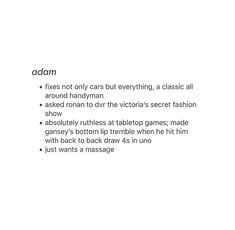 character aesthetic {adam} This is so accurate?? wtf??