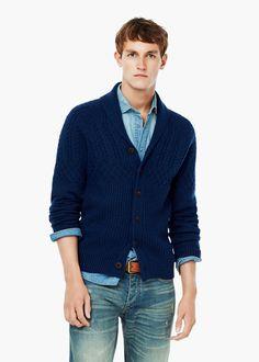 0bf472981d9 Chunky-knit wool-blend cardigan - Men