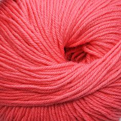 Cascade 220 Superwash  834 Strawberry Pink. Poss for the WATG peach-white-pink combo in photo.