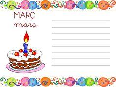Descarga las tarjetas para anotar cumpleaños en castellano, catalán e inglés