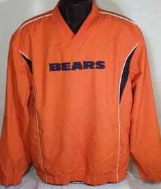 Chicago Bears Mens Size Medium NFL Team Apparel Pullover #NFLTeamApparel #ChicagoBears