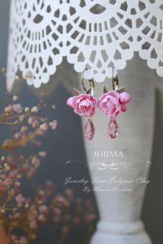 Cherry Blossom Earrings  Custom Order For Alisa by Jurma on Etsy