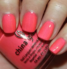 Love the sheen. China Glaze Pink Plumeria