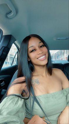 Beautiful Black Girl, Pretty Black Girls, Pretty Woman, Gorgeous Women, Black Girls Hairstyles, Straight Hairstyles, Hairstyle Short, Natural Hair Styles, Long Hair Styles