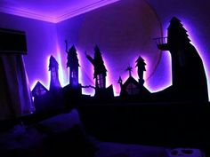 Nightmare Before Christmas glow room
