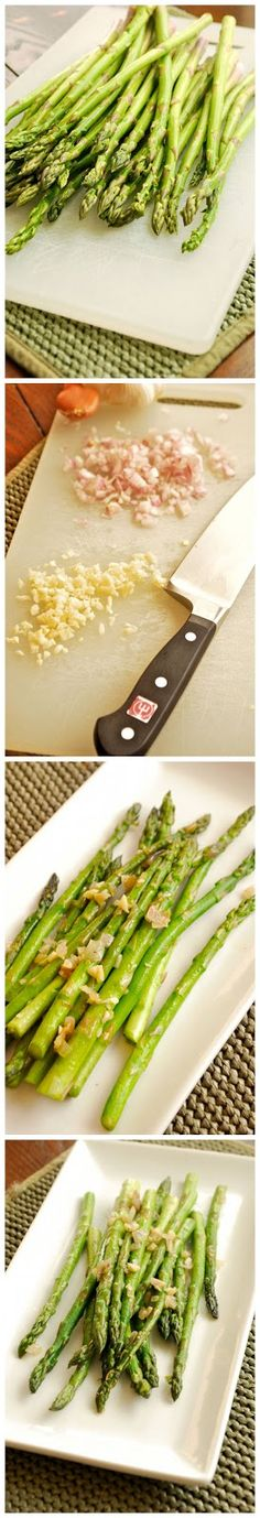Sautéed Asparagus with Garlic and Shallots Recipe