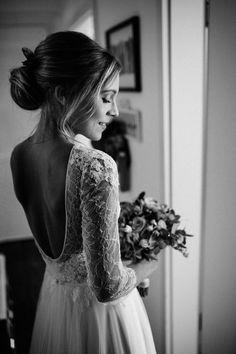 Brautkleid Anprobe Wedding Dress Fitting Wedding Gown Braut Hochzeit Tipps Ideen Anna Kara Spitze Vintage Tüll lange Ärmel Boho bride details_3