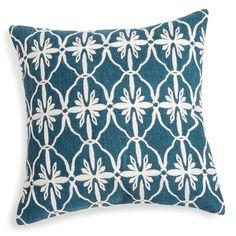 Housse de coussin en coton bleu à motifs 40x40cm MANOUDA