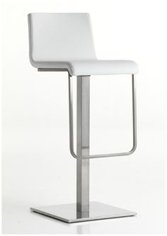 """""""Kuadra XL Soft Swivel Barstool"""" completes the XL family. The shell with constant thickness covered with fabric or simil leather. Swivel seat with spring back device, brushed stainless steel central base and column.  Please contact us for pricing (718)363-3097."""
