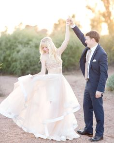 A fairytale desert engagement session. Warm golden light, the soft neutral tones of the red Papago Park Mountains, and a blush satin and chiffon full length skirt went perfectly with her petite floral crown. Engagement Photo Outfits, Engagement Pictures, Engagement Shoots, Outdoor Wedding Photography, Engagement Photography, Desert Photography, Couple Photography, Engagement Inspiration, Wedding Photo Inspiration