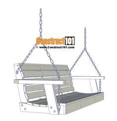 Porch swing plans - free PDF download. #furniturewoodworkingplans