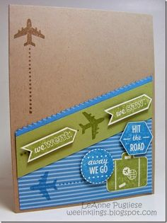 LeAnne Pugliese WeeInklings Around the World Graduation Card Stampin Up