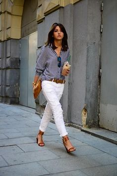 Blue & White - 42 Picture Perfect Summer Street Style Looks .
